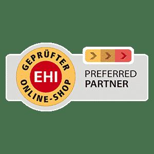 EHI geprüfter Online Shop prefered Partner Banner